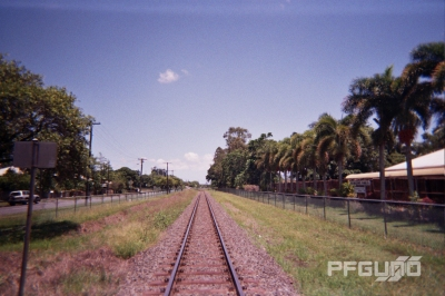 Train Tracks To The Distance