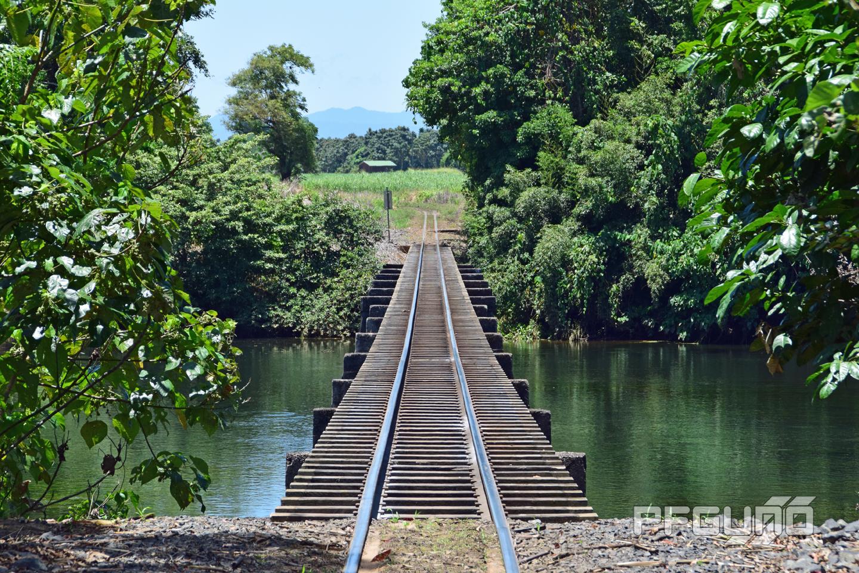 Train Bridge In The Distance