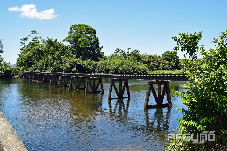Train Bridge Over The River