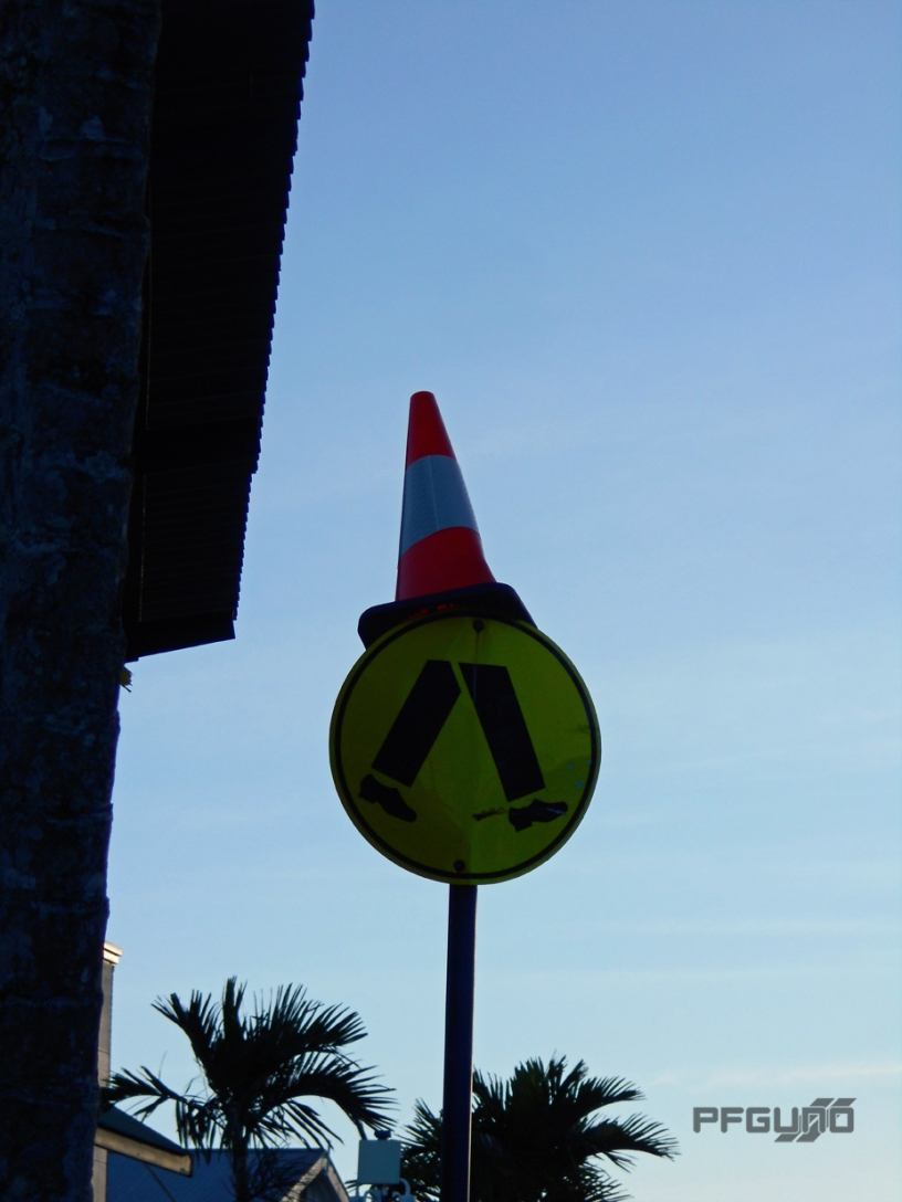 Cone On The Walk Sign