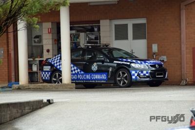 Black Police Car